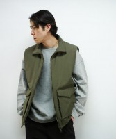 "「LIMITED SALE」 KAIKO PADDED VEST ""OLIVE"""