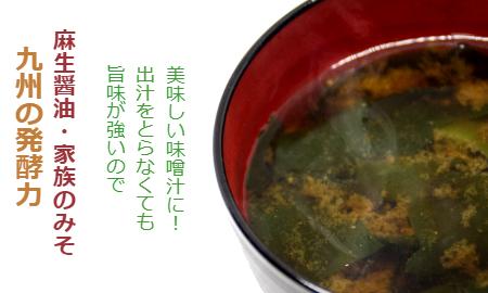 【九州の発酵力】麻生醤油 家族のみそ